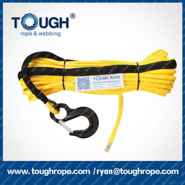 4-20mm UHMWPE rope for 12v electric recovery winch offroad 4x4 tool