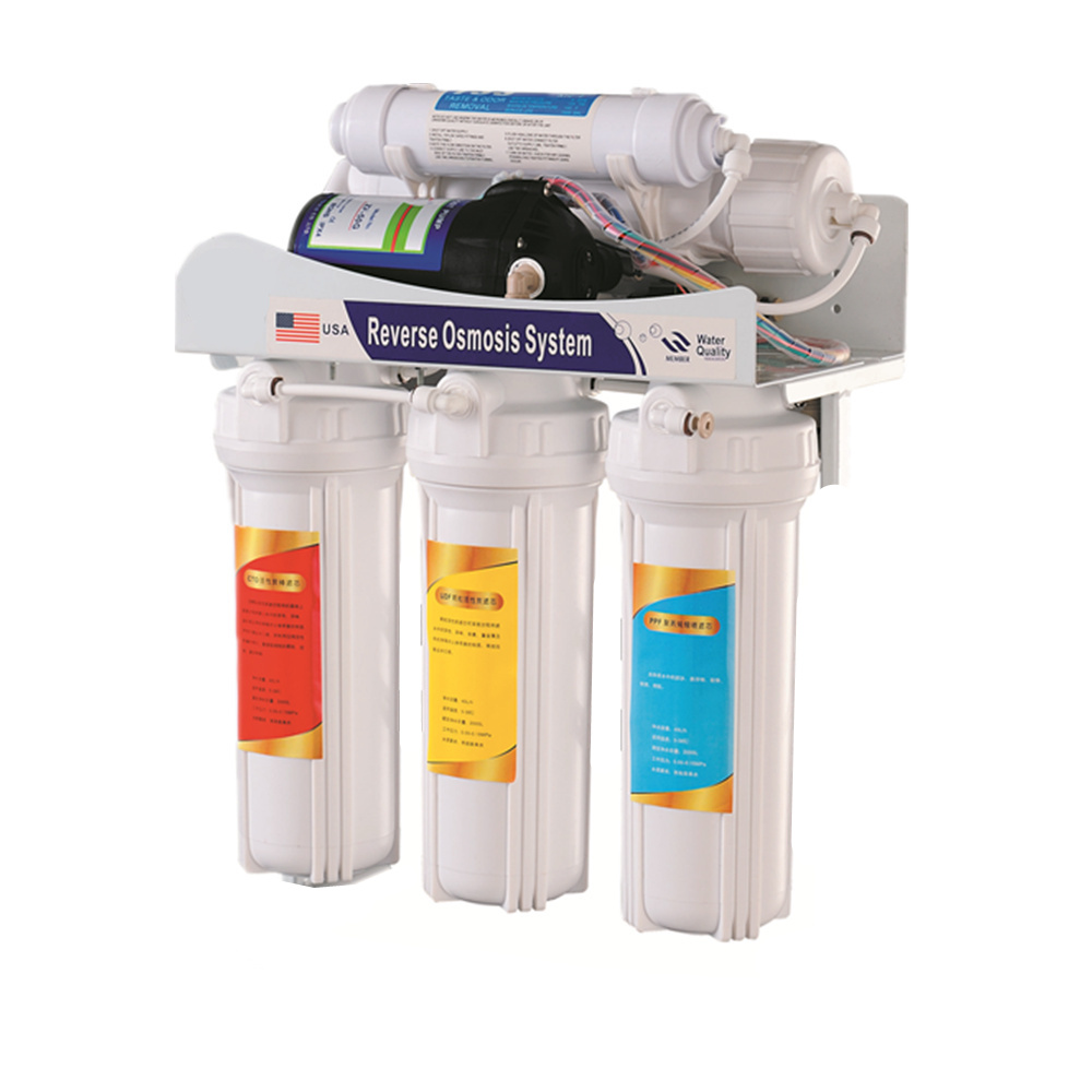 5 stage 100G undersink ro 75g safe life ro water filter with mineral ball cartridge