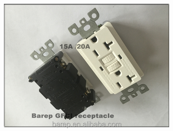 20A UL approved GFCI Grounding Wall receptacle