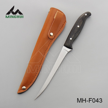 High quality color wood handle fillet knife