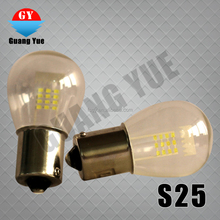 Cheap S25 led glass bulb BAY White LED Car Auto Tail Brake Stop Signal Parking Lights Bulb 12V