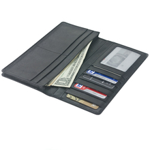 Best Large Slim Card Sleeve Flip Leather Wallet with Rfid Protection for Men's Gift