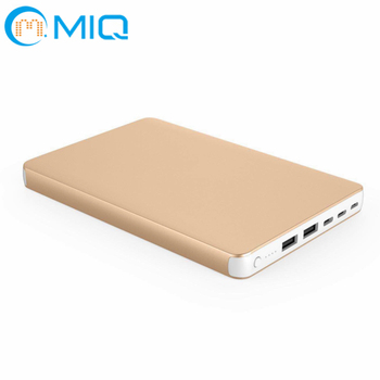 Metal 20000mah slim power bank with three Input and three output for mobile phone