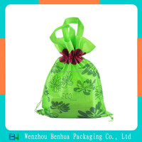 Drawstring bag gift bag flower printing eco-friendly bag