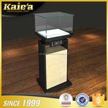 Customized LED lighted lockable glass jewelry display cabinet/showcase