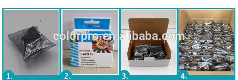 printer ink cartridge for hp301 for hp 301XL for HP Deskjet 2540 (A9U22B) inkjet cartridge
