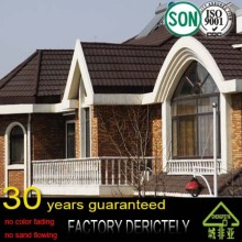guangzhou china factory high quality 100% natural stone coated steel metal roofing tiles