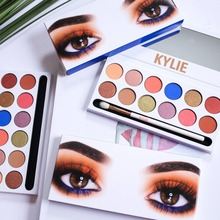 12 Colors glitter eyeshadow palette packaging Kylie makeup for resale cosmetic manufacturer