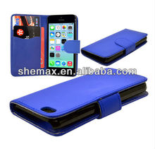 China cellphone accessories for iphone 5c leather case