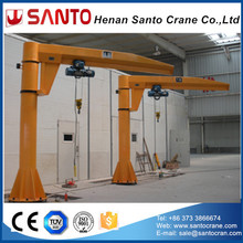 New type free standing 360 degree rotate slewing 5ton jib crane price, workshop used jib crane for sale