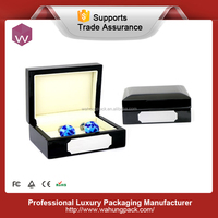 Fancy Newest Storage Cufflink Box Gift Black/ Quality Wood Women's Cufflink Boxes For Sale
