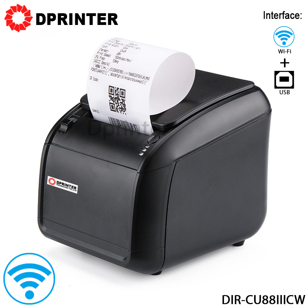 Dprinter 80mm Wireless WiFi Cloud Thermal POS Printer Receipt Ticket Printer with Auto Cutter