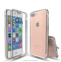 clear PC back case for iphone7, side/frame is soft TPU protect case