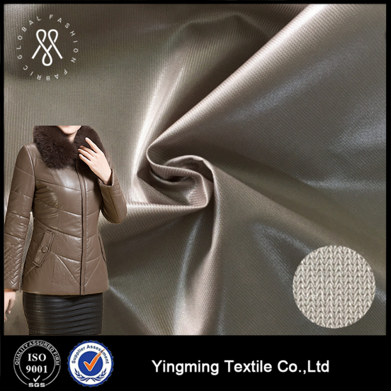 Combined TPU film laminated dyed polyester knitted fabric, for fashion garments,down coat,jacket,outerwear