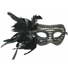 Costume Party Mask Masquerade Feather Venice Sequins Spider Half Face Mask