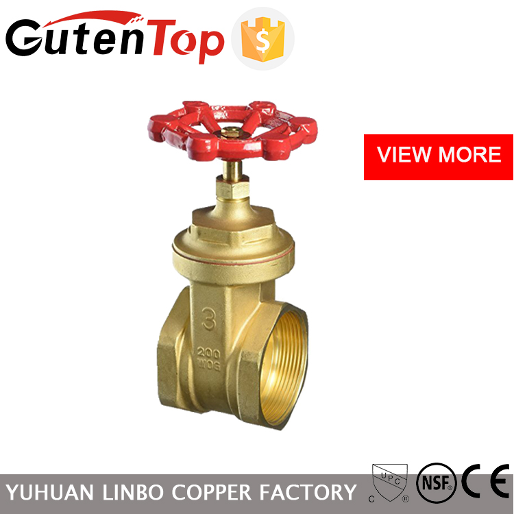 LB-GutenTop OEM Brass Gate Valve with wheel handle from yuhuan