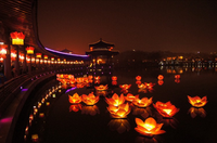 Paper Lotus Flower Festival Floating Water Lantern