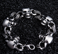 Fashion stainless steel skull bracelet for men