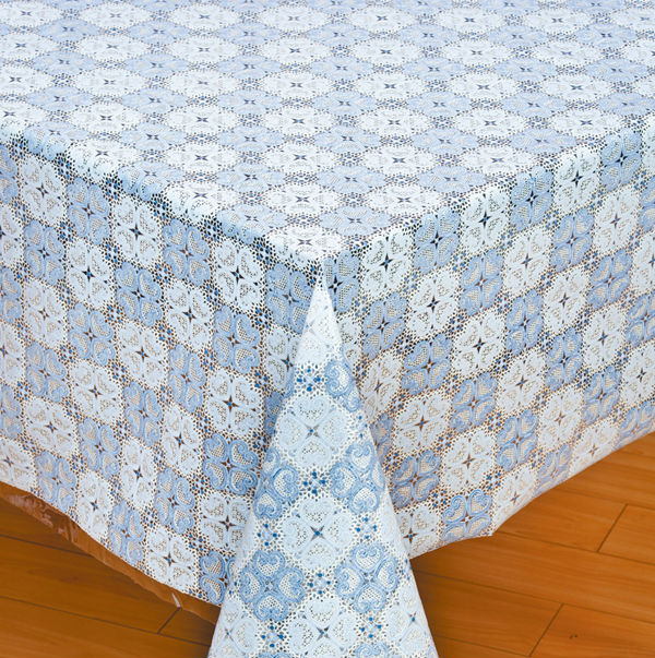 PVC lace table cloth coral table cloth