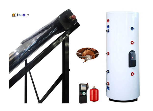 SPlit pressurized solar water heater -- JXSC-solar collector and SP106 working station