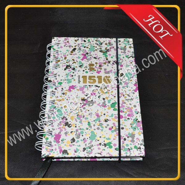 School supplies wholesale coloring spiral paper notebook