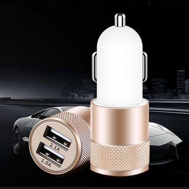 Dual USB Car Charger USB Universal Travel Mobile Phone charger Adapter for iPhone Samsung