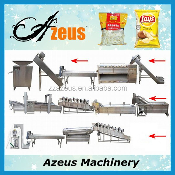 60kgs/h full automatic stainless steel wafer producing plant for french fries/potato chips making factory production line price