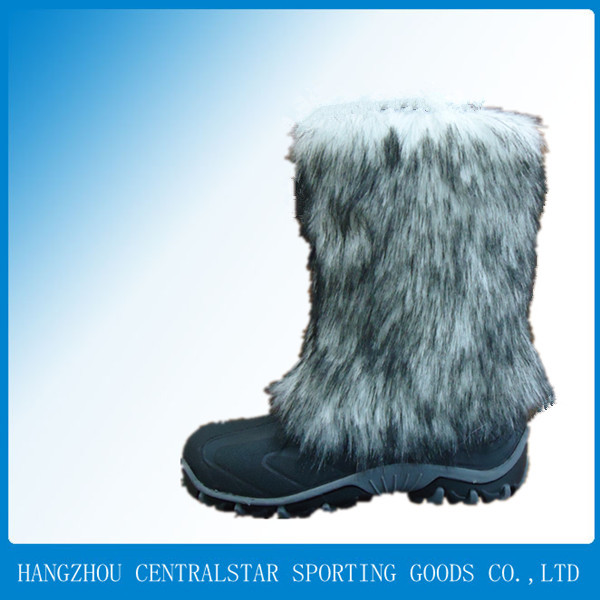 cheap sexy fashion faux fur women winter snow boots