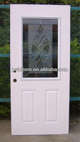 entry tempered glass door balcony steel glass door, galvanized steel door