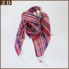 New Striped Colorful print pattern large light weight infinity scarf scarves