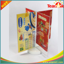 Desktop rotating brochure display stand/magzine acrylic book display holder