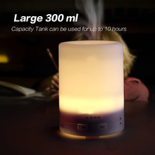 300ml strong colorful led lights portable electric essential oil diffuser