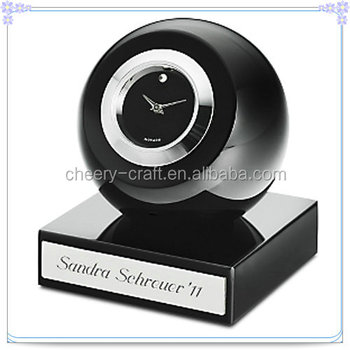 Handmade Elegant Yiwu Black Ball Clock For Car Decoration