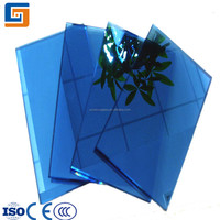 smart dark blue reflective glass for curtain wall