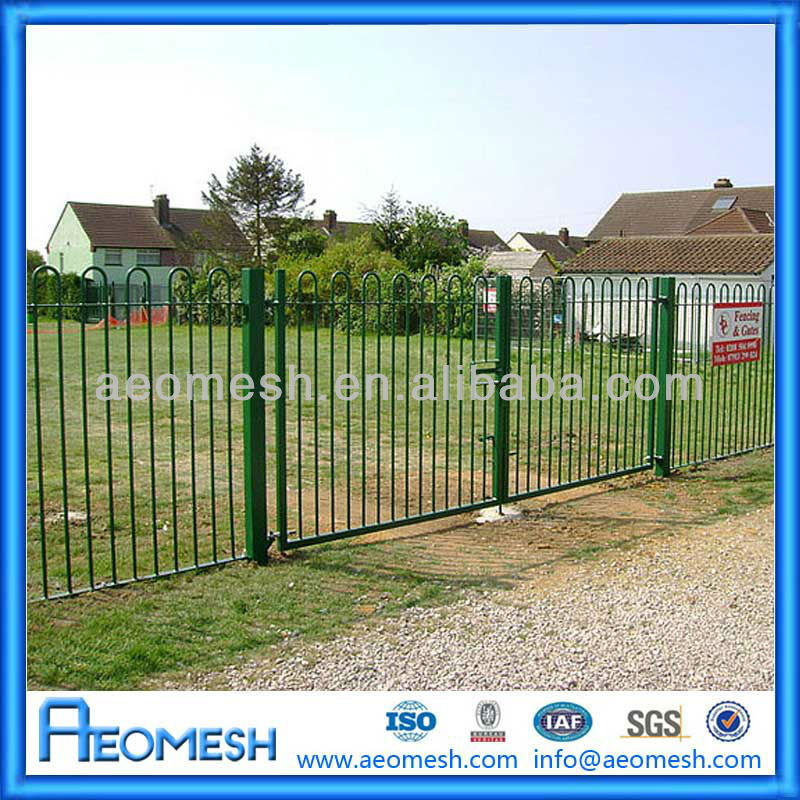 Ornamental wrought iron fences with bow top buy