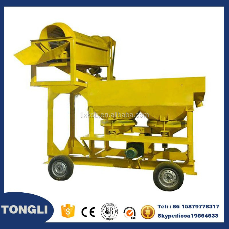 Mobile Diamond Wash plant,Portable Diamond Washing Trommel drum scrubber washer