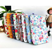 FL3231 Guangzhou 2013 hot selling floral wallet leather flip case cover for samsung galaxy tab 2 p5100 10.1