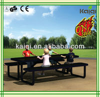 Outdoor placstic playground pvc coated table and chair,Kaiqi Best price than ever