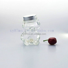 Different Size Custom Bear Shape Mini Glass Candy Jar