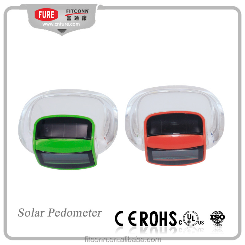 Fitness pedometer step counter and calorie recorder