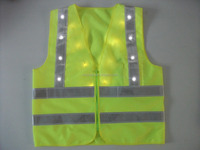 2015 New Style Hi-Vis Flashing LED Knitted Reflective Safety Vest High Visibility Motorcycles Road Security Warning Waistcoat
