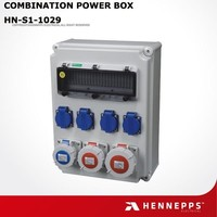 Plastic water proof Distribution box combined IP67 industrial sockets with MCB protection