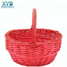 cheap wholesale large wicker storage baskets with handles