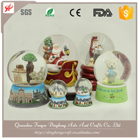 Christmas Home Decor Wholesale Glass Mini Music Custom Water Snow Globe For Sale