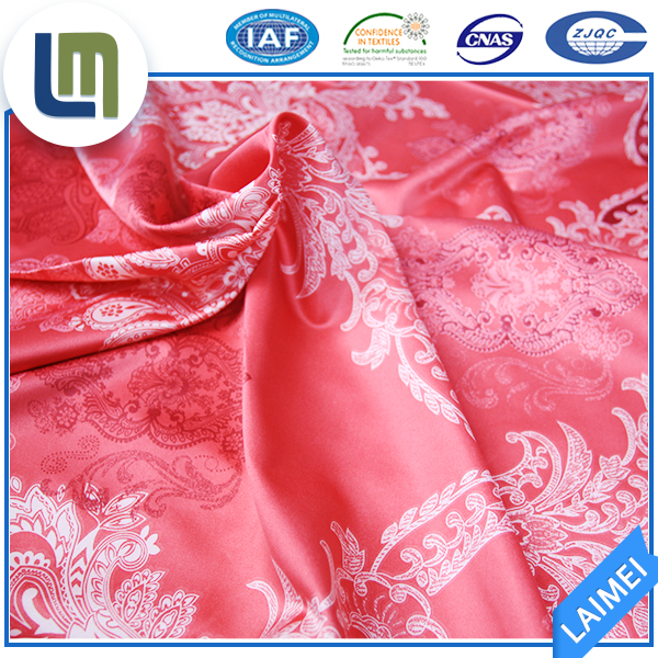 China products polyester flower printed satin silk fabric