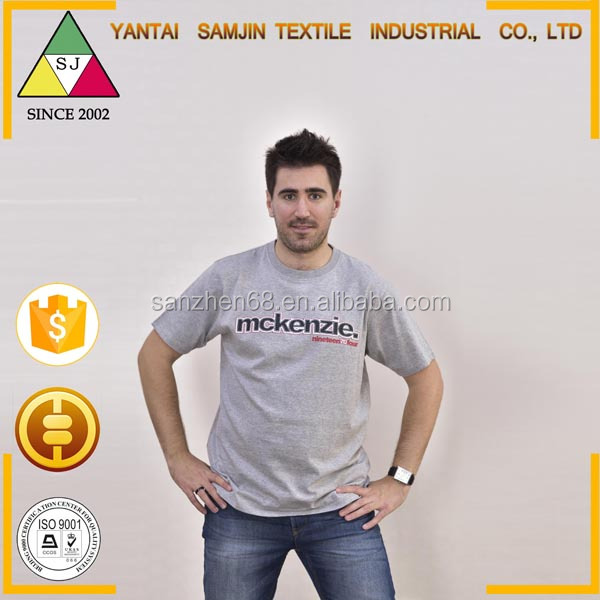Export High Quality Custom Blank T-shirt Summer T Shirt 70% Polyester 30% Cotton T-shirt