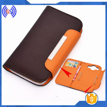 Universal Leather Flip Case For Vodafone 875 Smart Mini