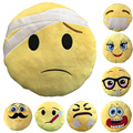 Custom Made pp cotton stuffed plush emoji pillow for sale