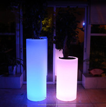 Tall standing acrylic plastic LED glowing flower pot for direct sale