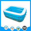 Rectangular 3 rings PVC bubble adult size inflatable pool180x140x60cm